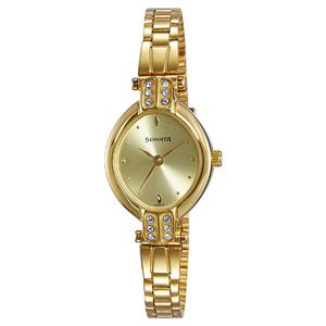 Sonata Analog Gold Dial Women's Watch